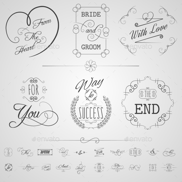 GraphicRiver Calligraphy Elements Set 10768550