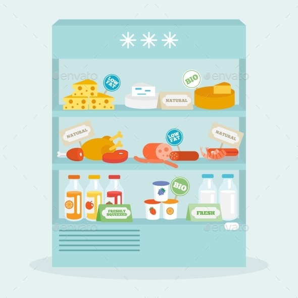 GraphicRiver Food In Fridge Collection 10768933