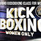 Kickboxing for women facebook cover template