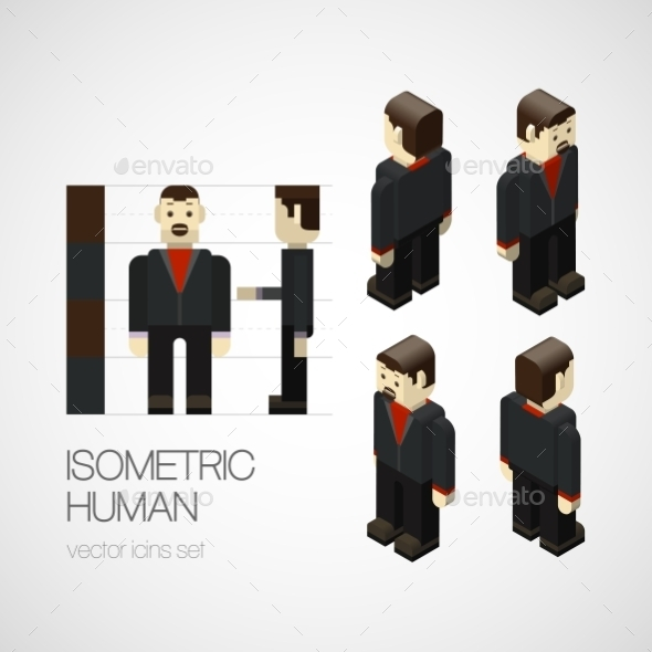 GraphicRiver Isometric Human 10769284
