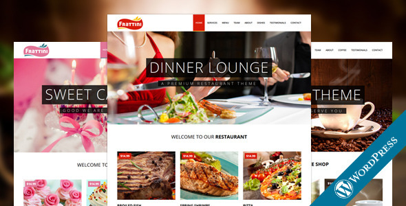 ThemeForest Frattini A Premium Restaurant Cakes and Coffee WordPress Template 10629185