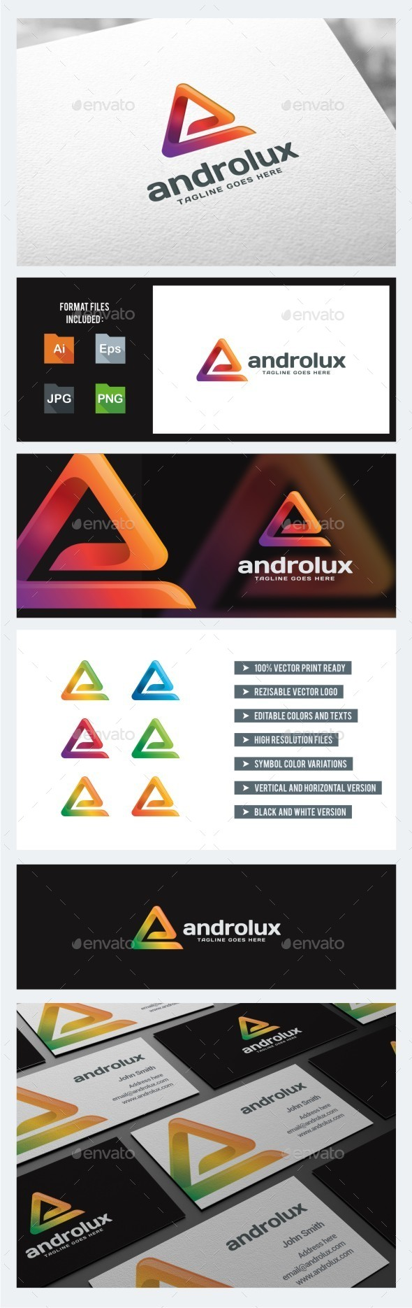 GraphicRiver Colorful A Letter Abstract 10769420