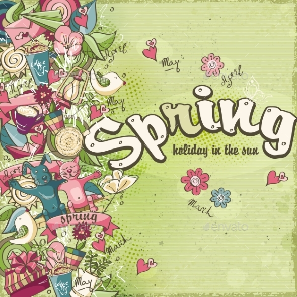 GraphicRiver Postcard Dedicated to Spring 10769505