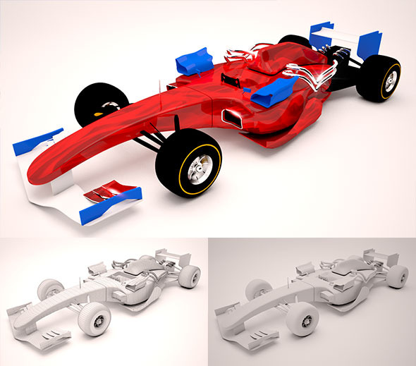 3DOcean Race Car F1 10769631