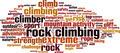 Rock Climbing Word Cloud Concept - PhotoDune Item for Sale
