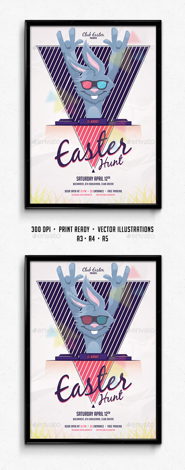 GraphicRiver Easter Party Poster 10706594