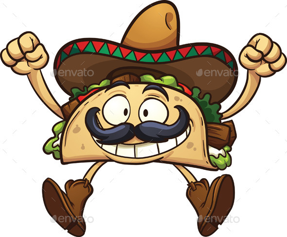 GraphicRiver Cartoon Taco 10770741