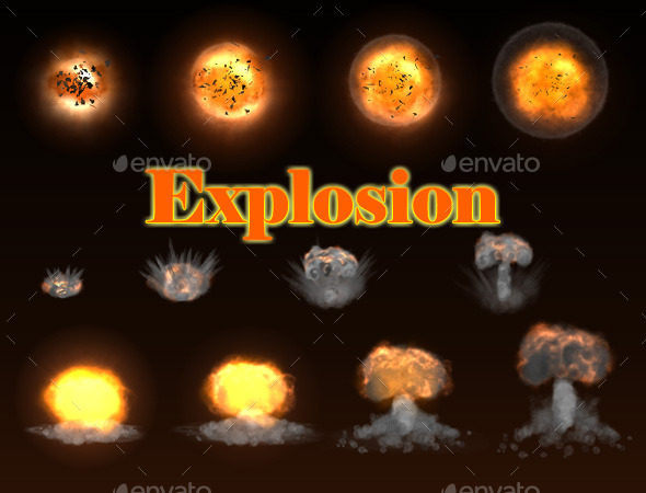 GraphicRiver Stylized Explosion 10770863