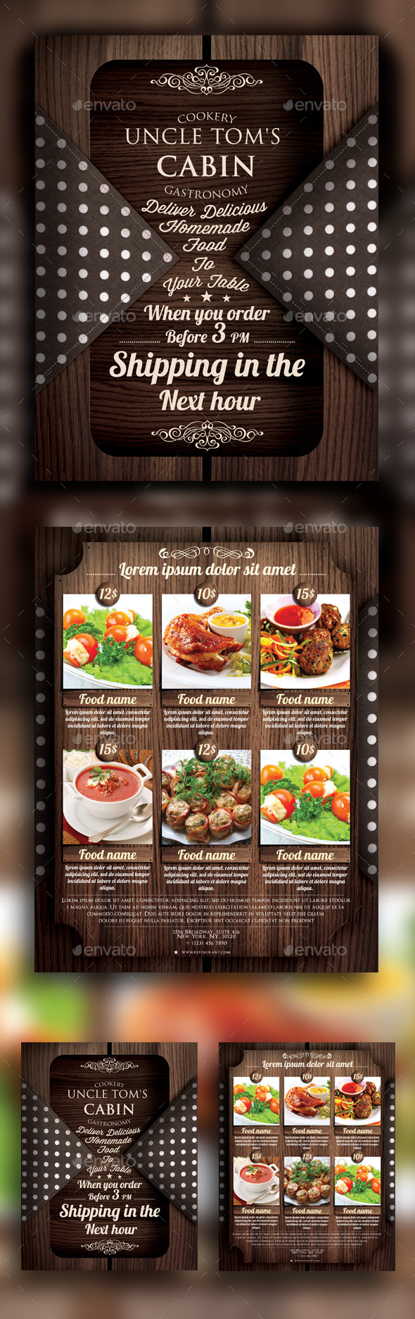 GraphicRiver Food Delivery Flyer 10771303