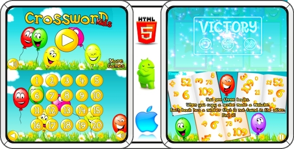 Crossword parum kids - Android game + AdMob (CAPX)
