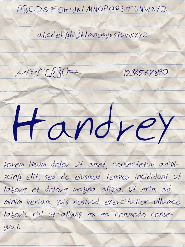 GraphicRiver Handrey Font 10771345