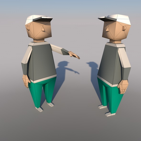 Low-poly models people - 3DOcean Item for Sale