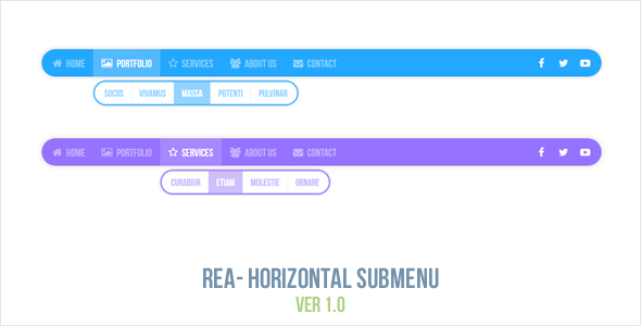 CodeCanyon Rea Horizontal Submenu 10771633