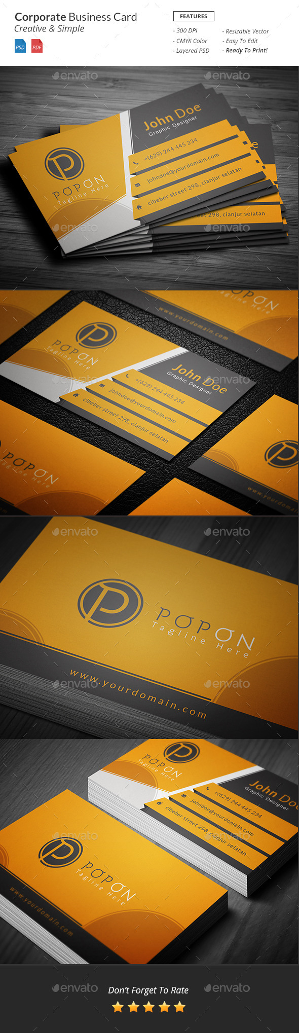 GraphicRiver Corporate business card template 10771765