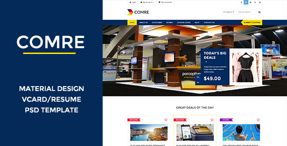 ThemeForest Comre Coupon & Offers PSD Template 10771869