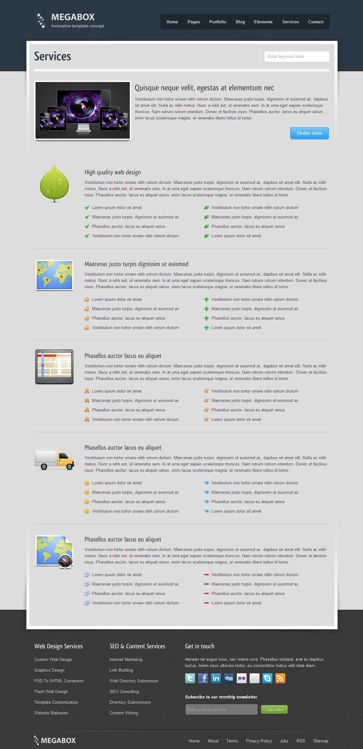 MegaBox - Multipurpose HTML5 Template