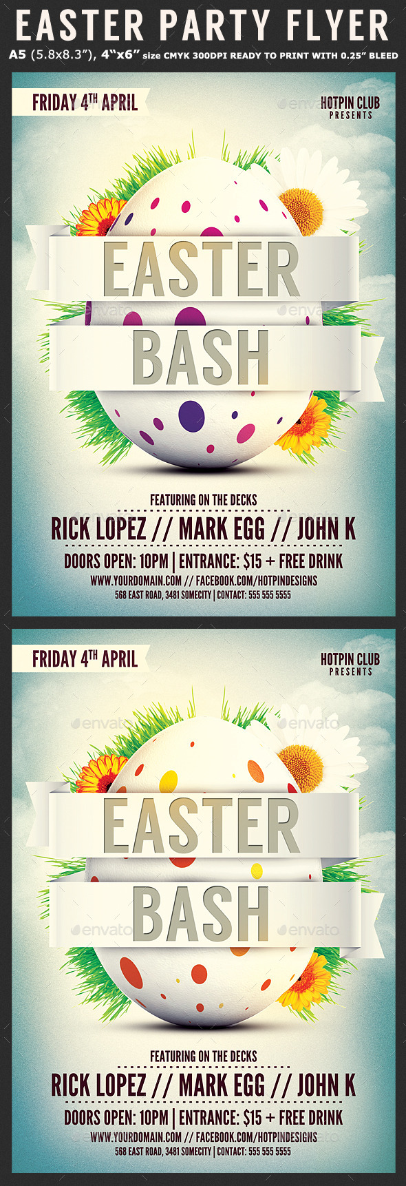 GraphicRiver Easter Bash Flyer Template 10771995