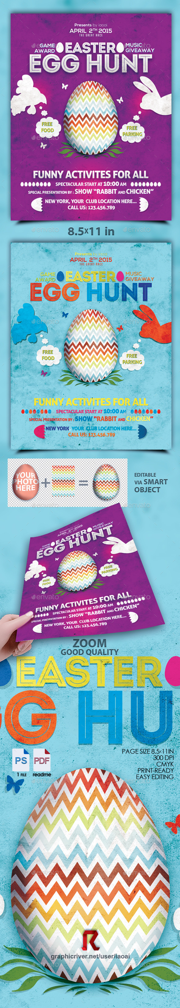 GraphicRiver Easter Egg Flyer 10772032