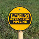 Warning Petroleum Pipeline Sign - PhotoDune Item for Sale