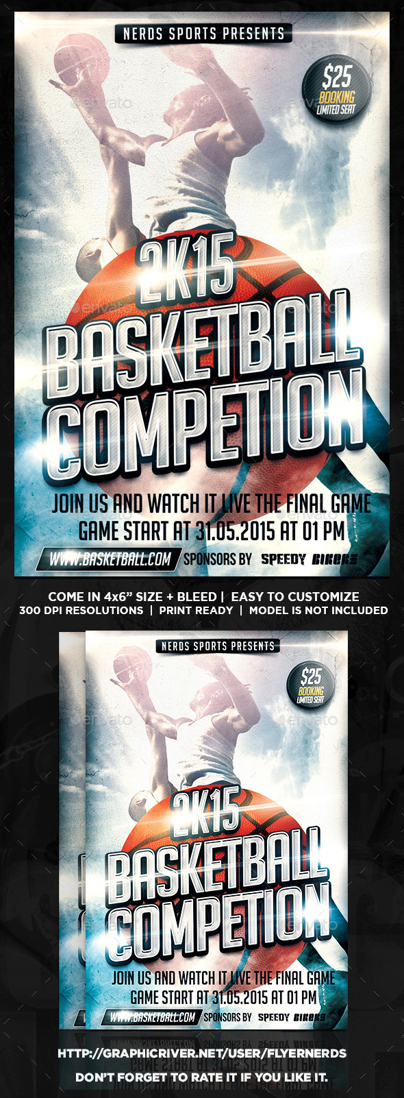 GraphicRiver Basketball 2K15 Sports Flyer 10772147
