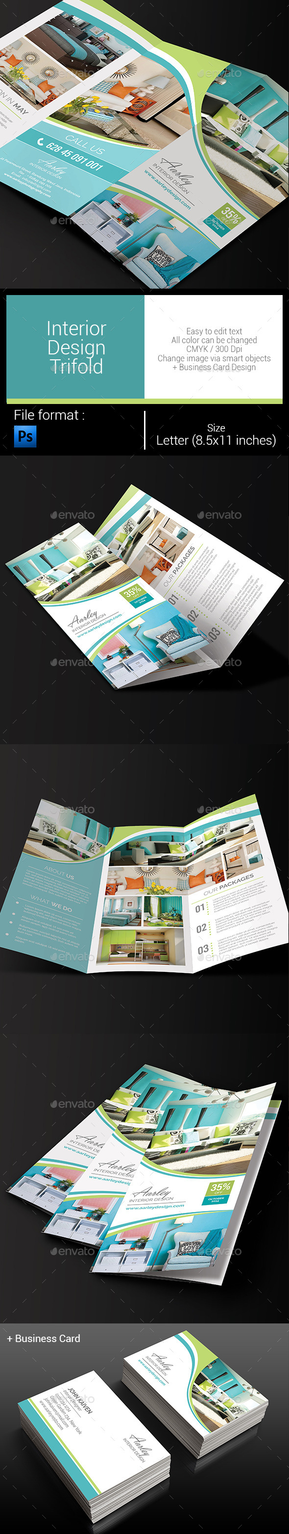 GraphicRiver Interior Design Trifold 10688353