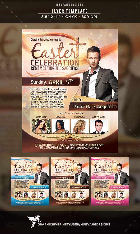 GraphicRiver Easter Celebration Flyer 10772387