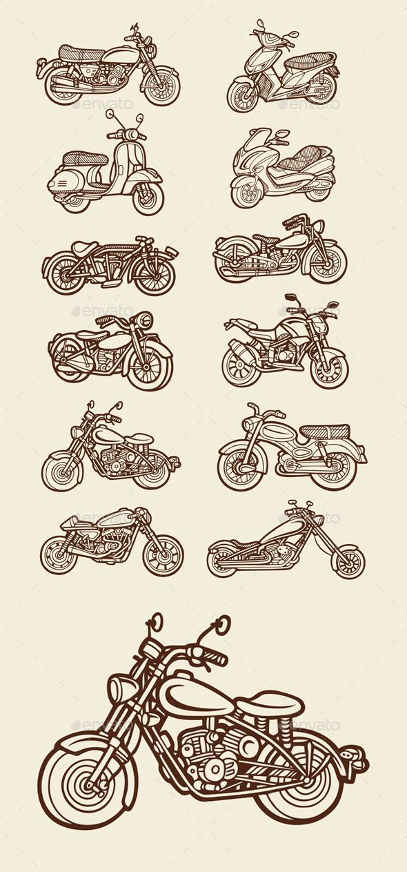 GraphicRiver 12 Motorbikes 10772458