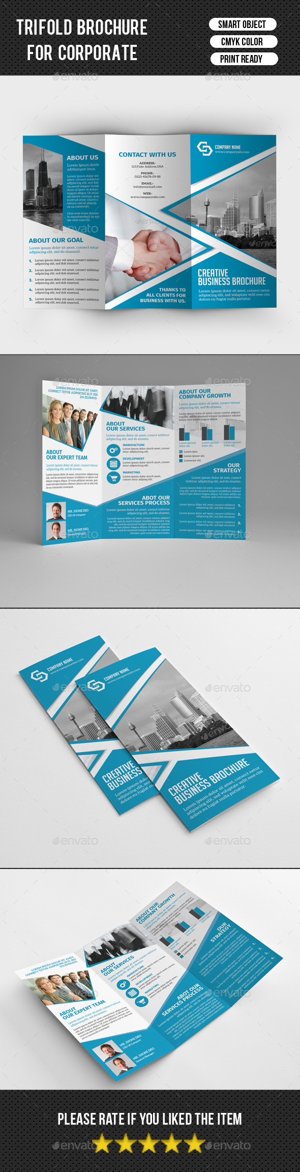 GraphicRiver Corporate Trifold Brochure-V226 10772496