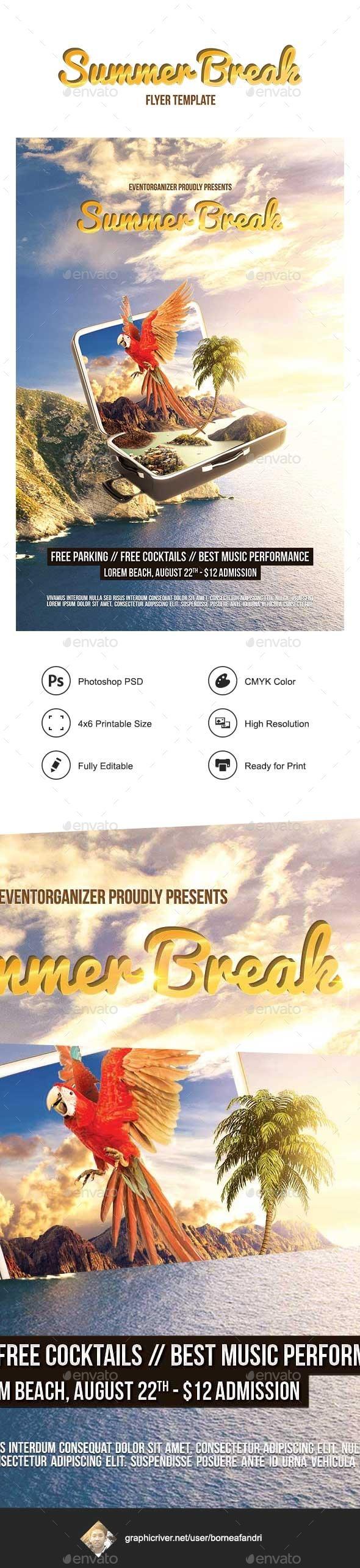GraphicRiver Summer Break Flyer 10772928