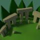 Low-Poly Isometric Ruins - 3DOcean Item for Sale