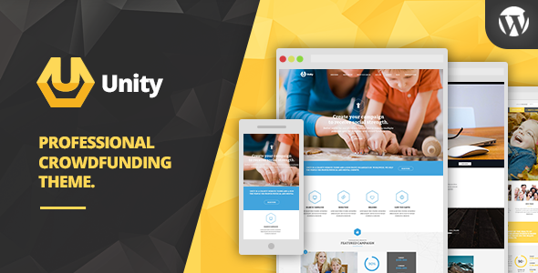 ThemeForest Unity Wordpress Crowdfunding Theme 10773175