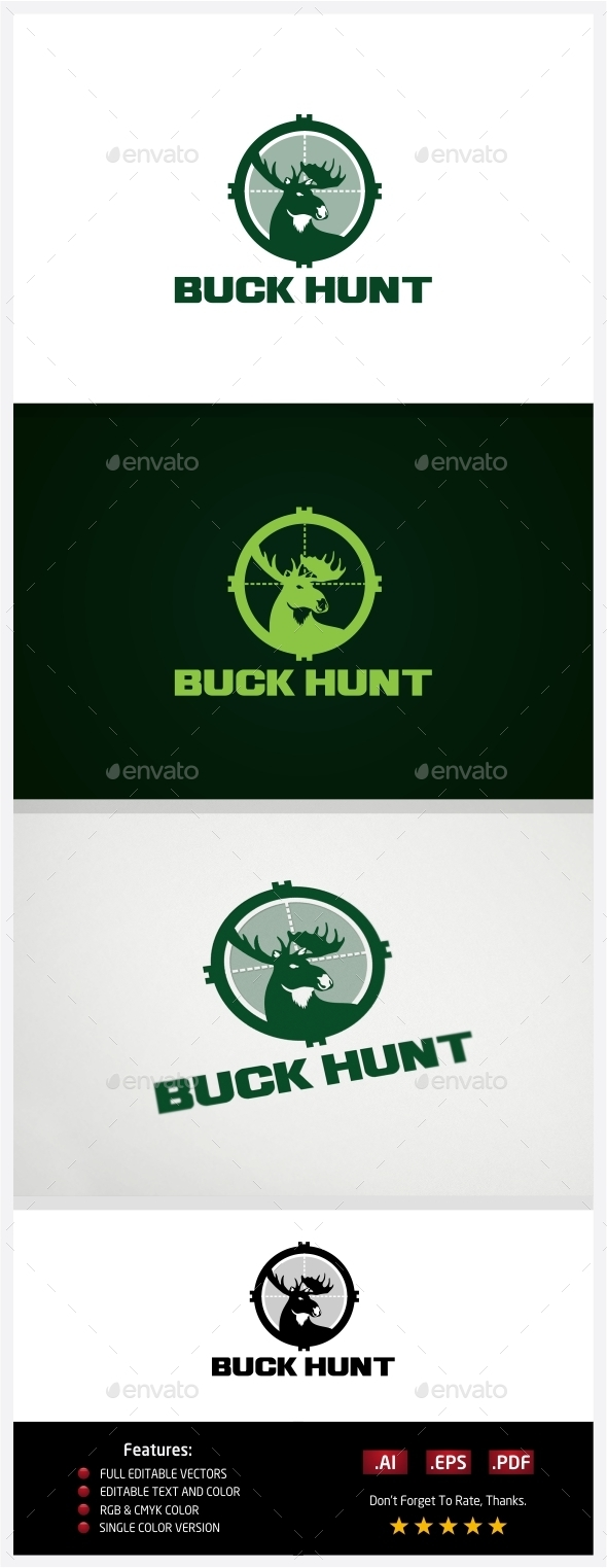 GraphicRiver Buck Hunt Logo 10773357