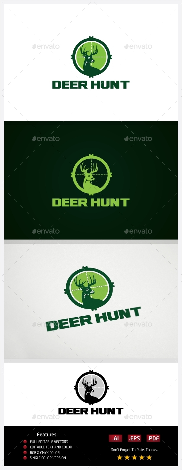 GraphicRiver Deer Hunt Logo 10773370