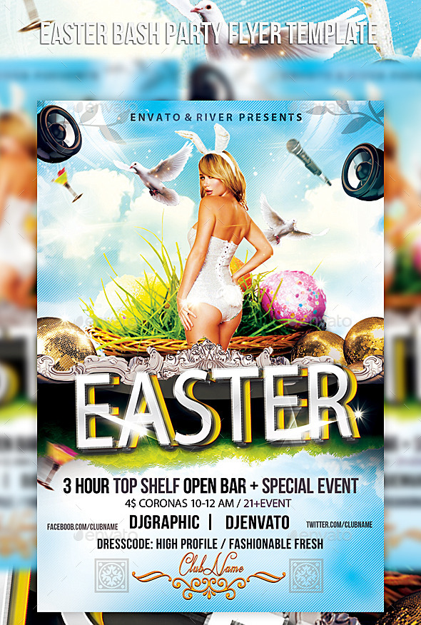 GraphicRiver Easter Bash Party Flyer Template 10773608
