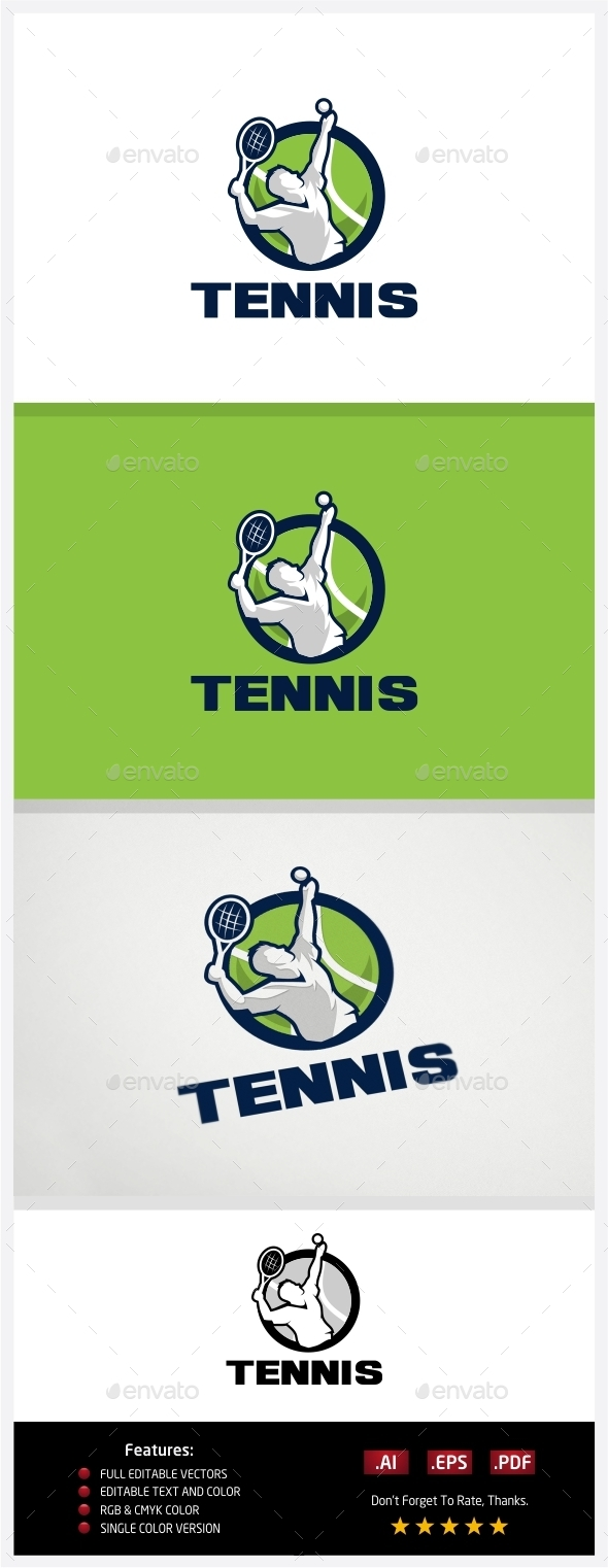 GraphicRiver Tennis Logo 10773638