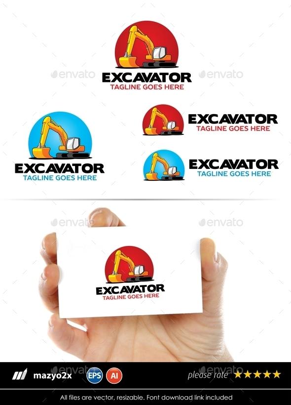 GraphicRiver Excavator Logo 10773688