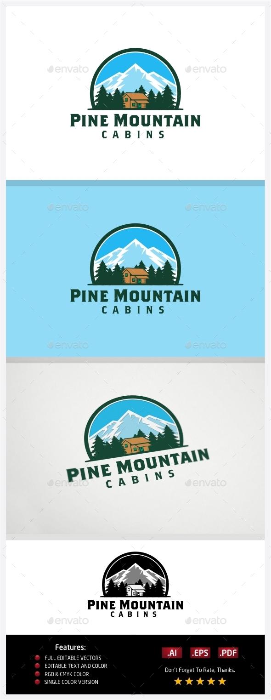 GraphicRiver Pine Mountain Cabins 10773731