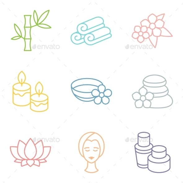 GraphicRiver Set of Spa Icons 10773848
