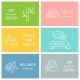 Spa and Recreation Business Cards with Icons - GraphicRiver Item for Sale
