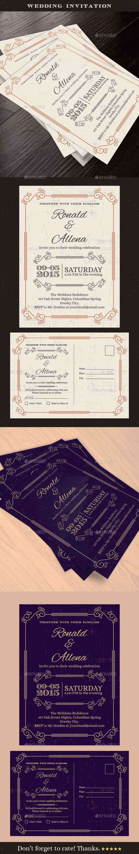 GraphicRiver Wedding Invitation 10774142