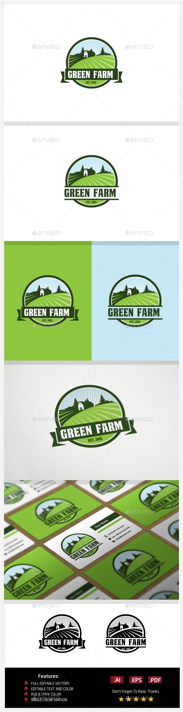 GraphicRiver Green Farm 10774325