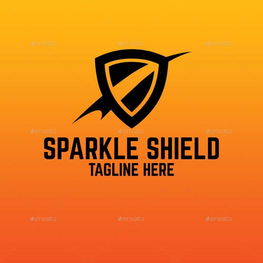 Sparkle shield logo by superpencil graphicriver for Envato graphicriver