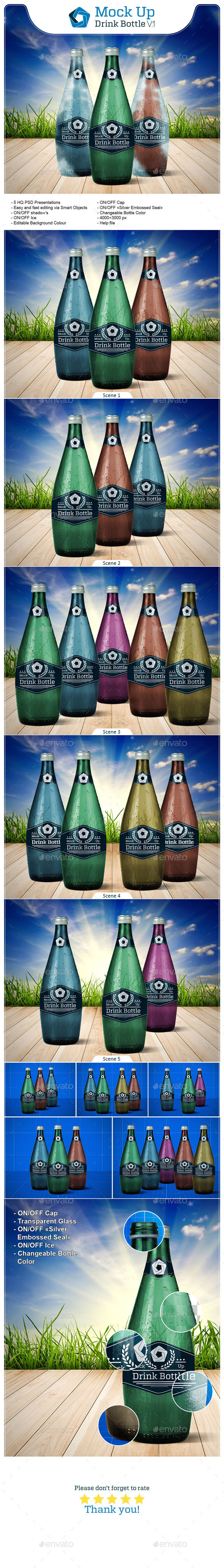 GraphicRiver Drink Bottle V.1 10774834