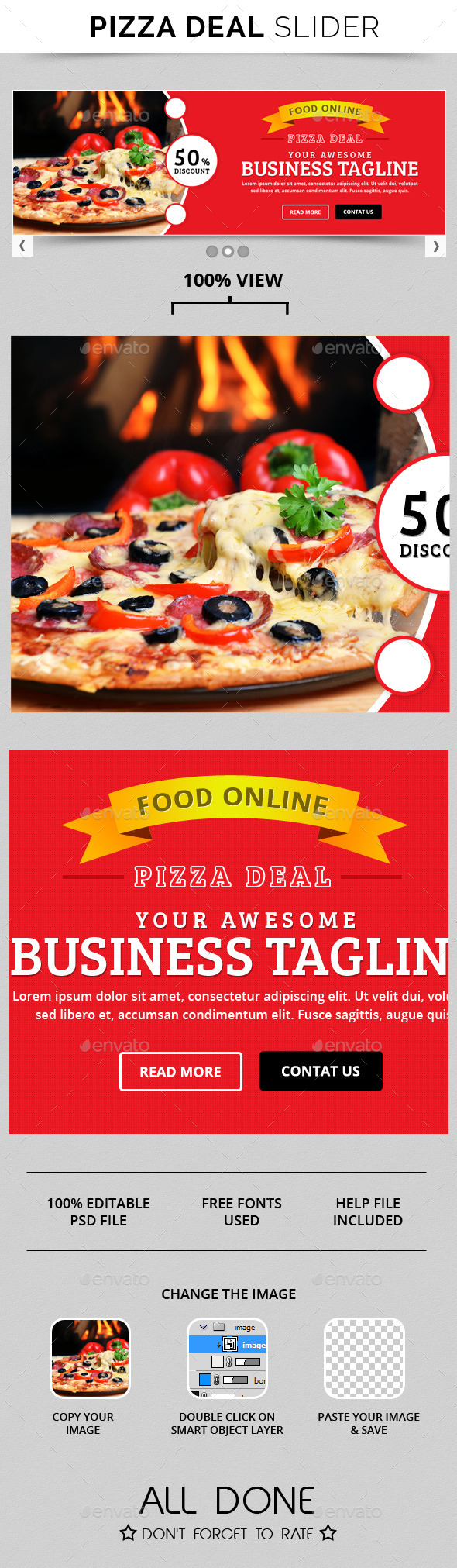 GraphicRiver Pizza Deal Slide 10774836