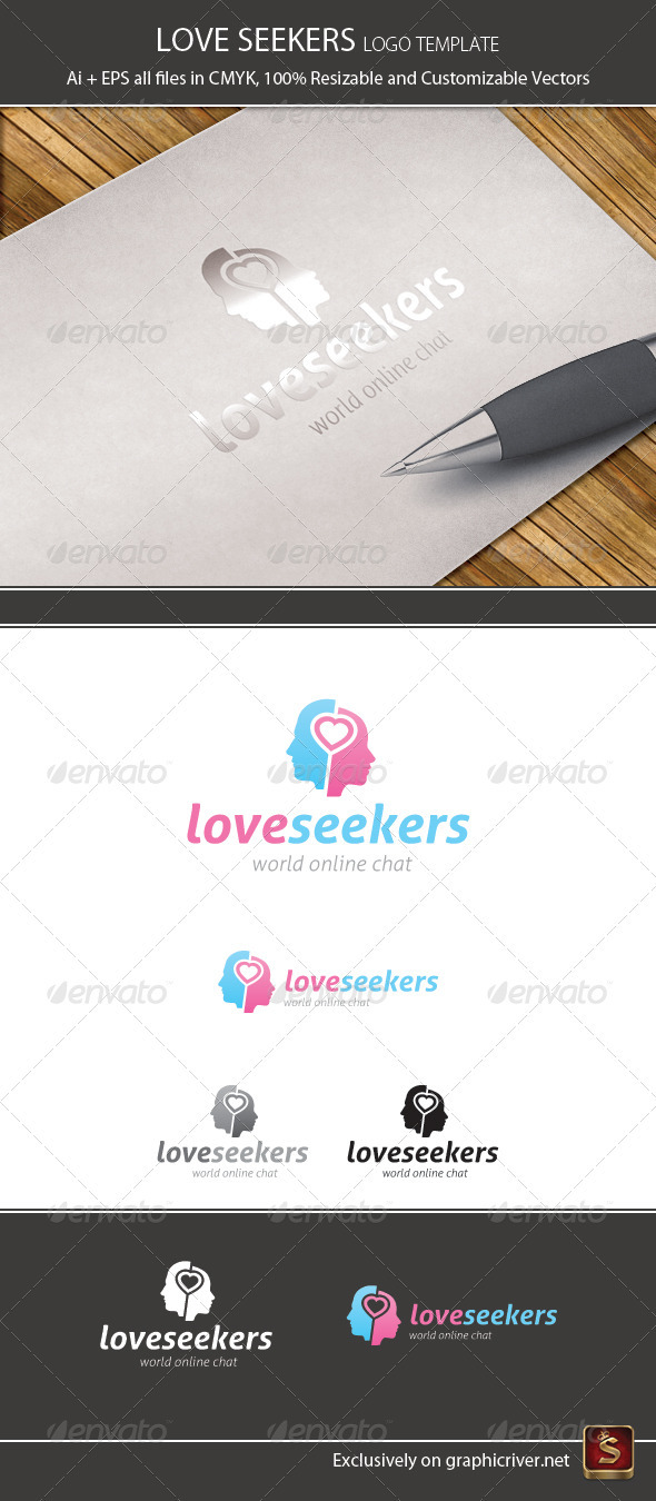Love Seekers Logo Template - Humans Logo Templates
