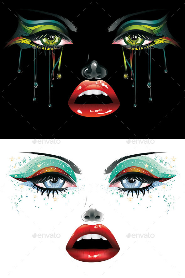 GraphicRiver Carnival Makeup 10775678