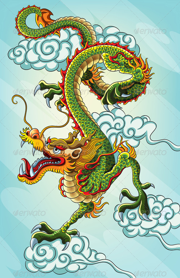 Chinese Dragon Painting | GraphicRiver