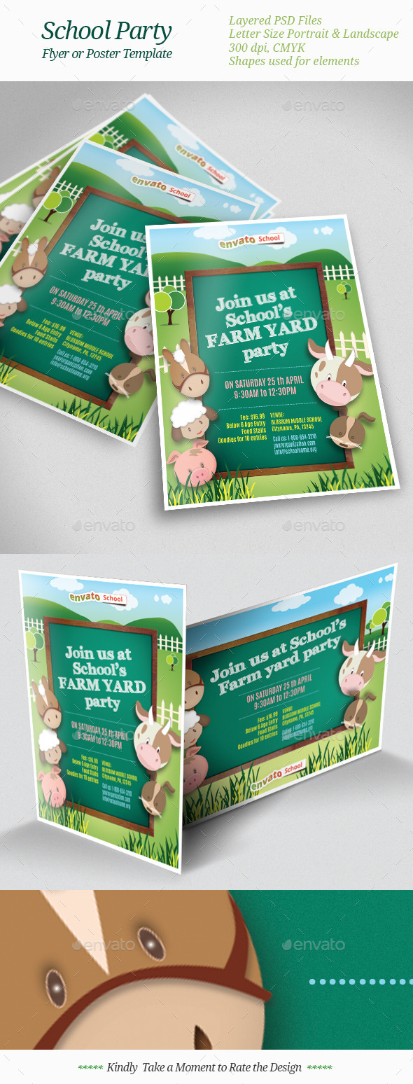 GraphicRiver School Party Flyer Templates 10775961