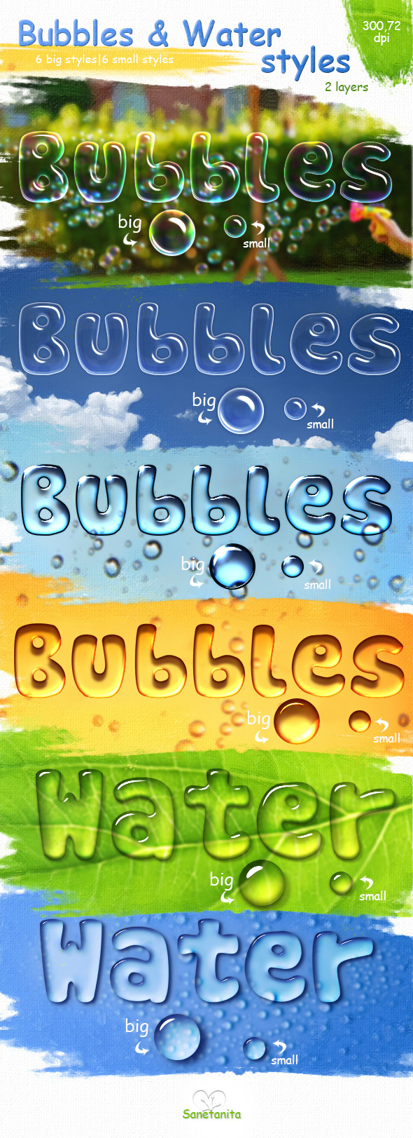 GraphicRiver Bubbles & Water Styles 10776045