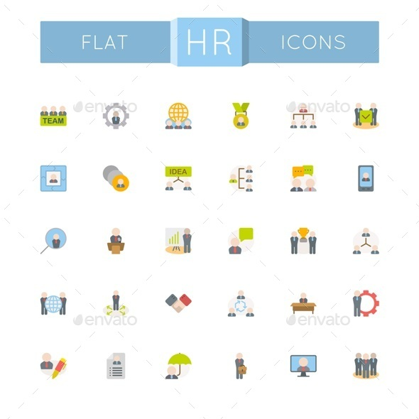 GraphicRiver Vector Flat HR Icons 10776082